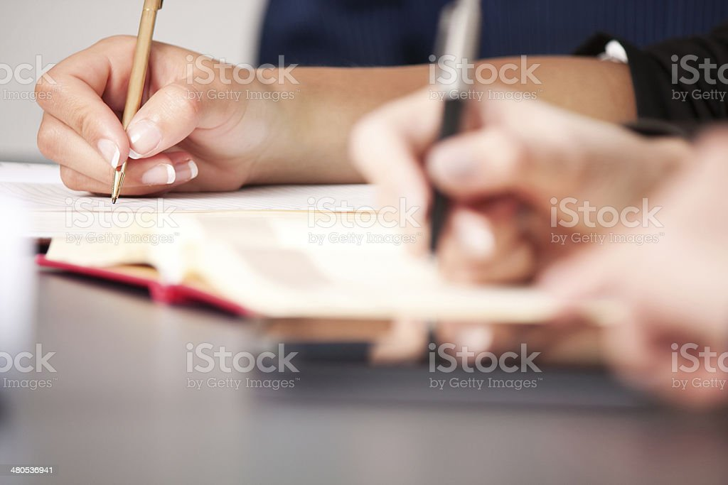 On a meeting stock photo