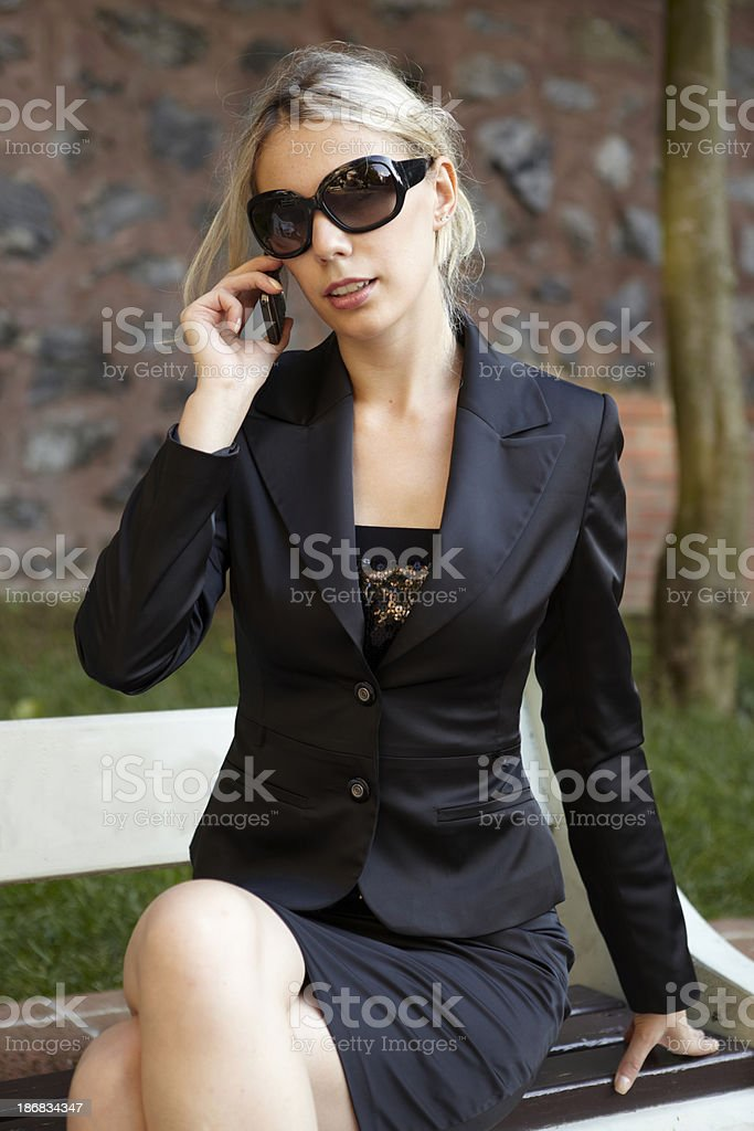 on a phone stock photo