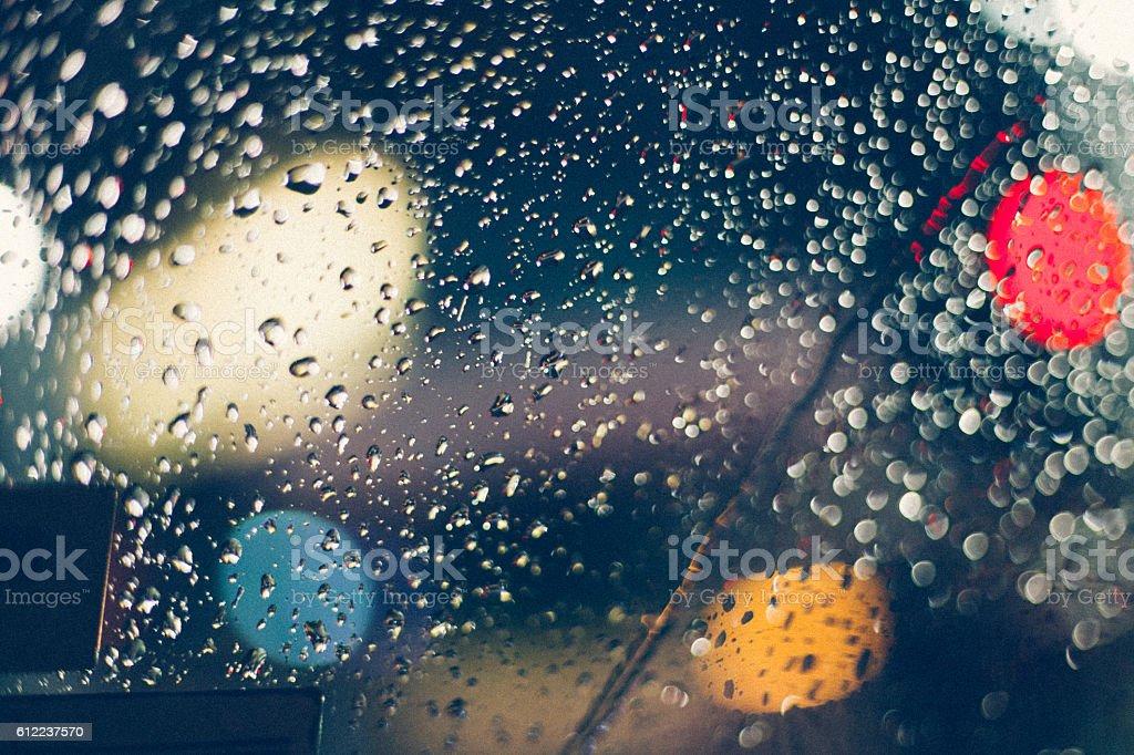 On a rainy night stock photo