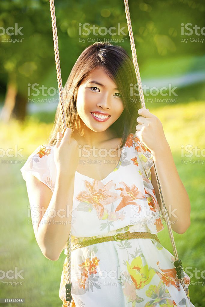 On a Swing stock photo