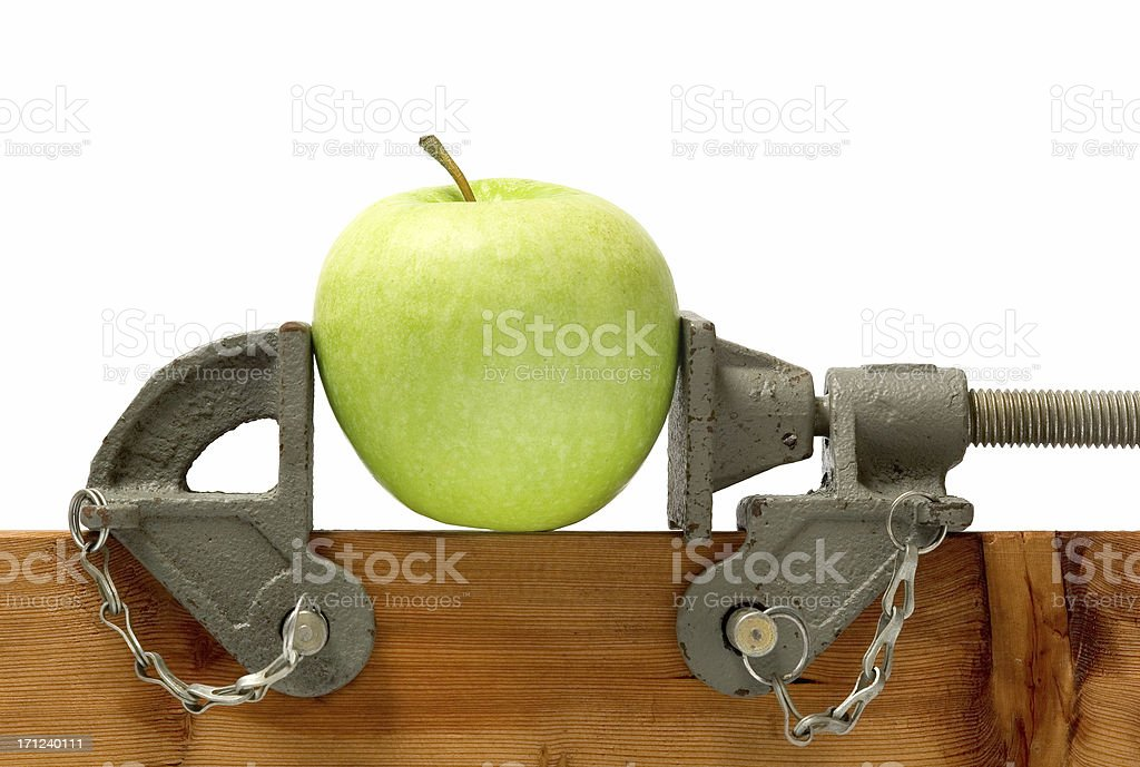 On a tight diet royalty-free stock photo