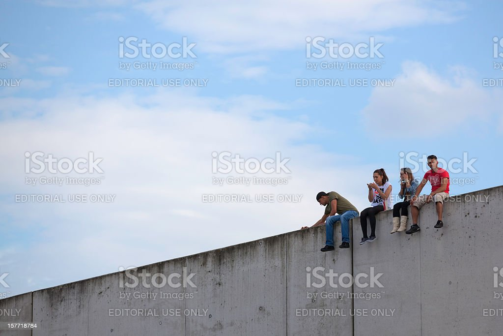 On a wall stock photo