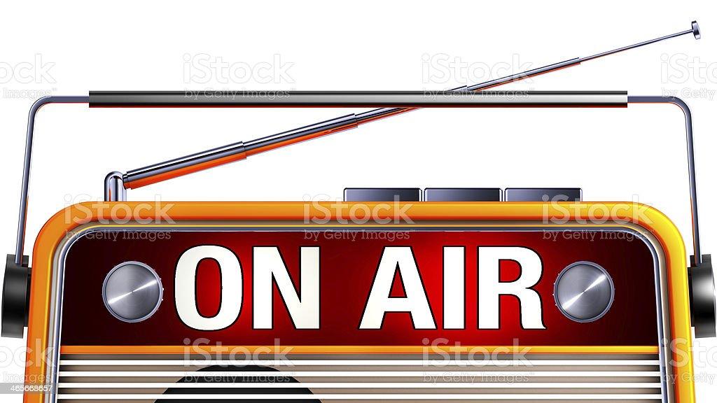 on air icon stock photo