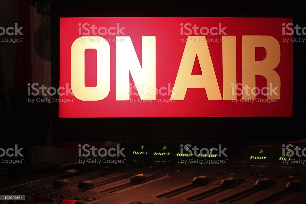 On Air Radio Studio royalty-free stock photo
