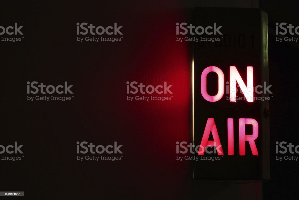 On Air Sign royalty-free stock photo
