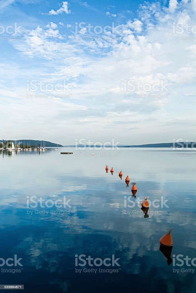 On Altmuehlsee in Germany stock photo