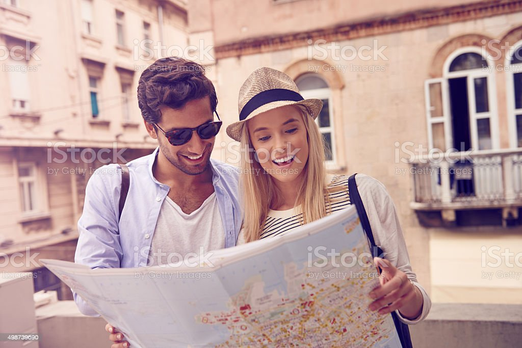 On an adventure together stock photo