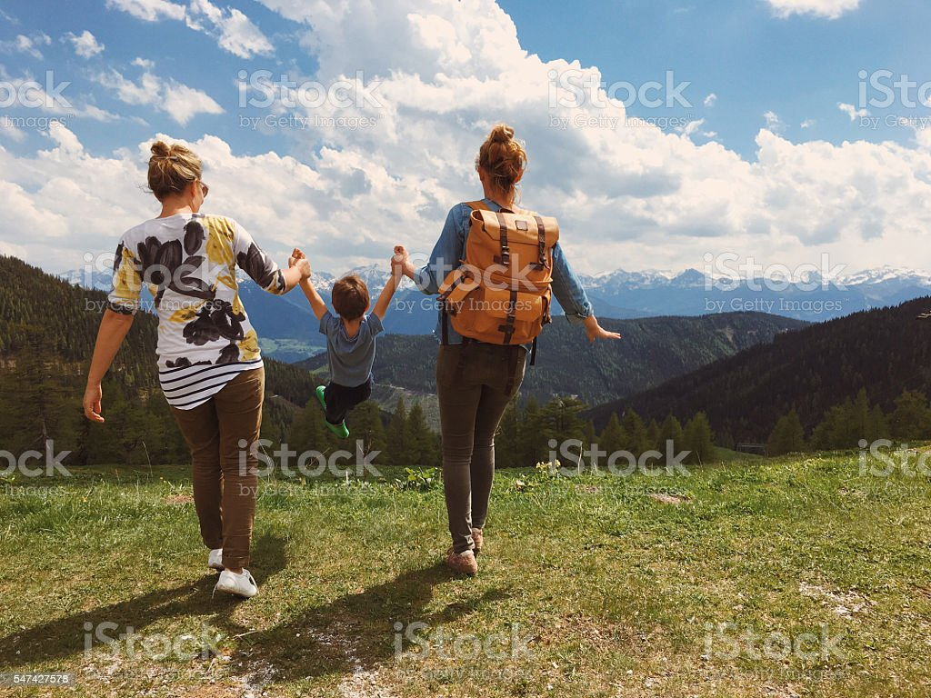 On an adventure with my moms stock photo