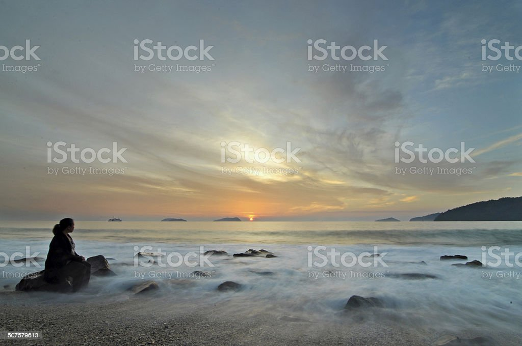 On an evening stock photo