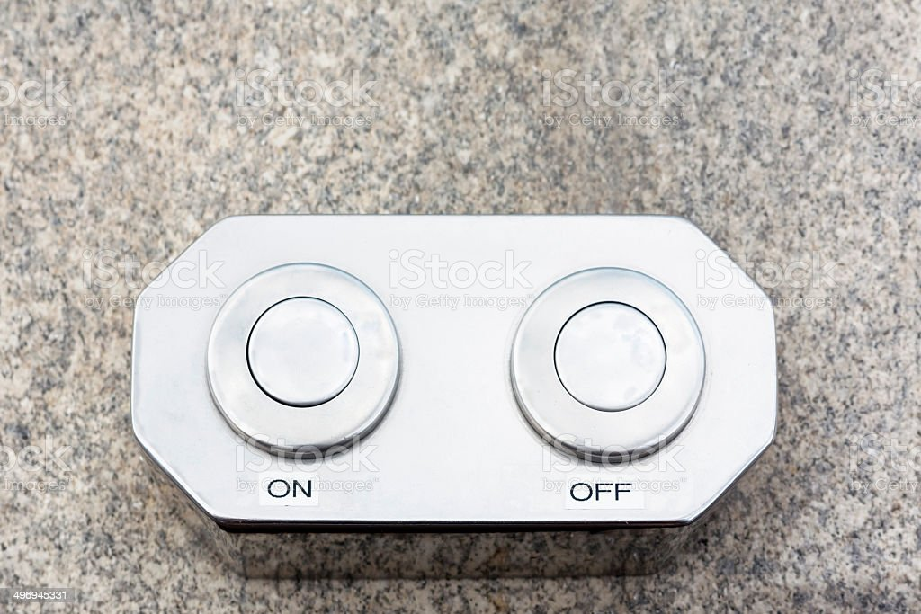 On and Off buttons stock photo