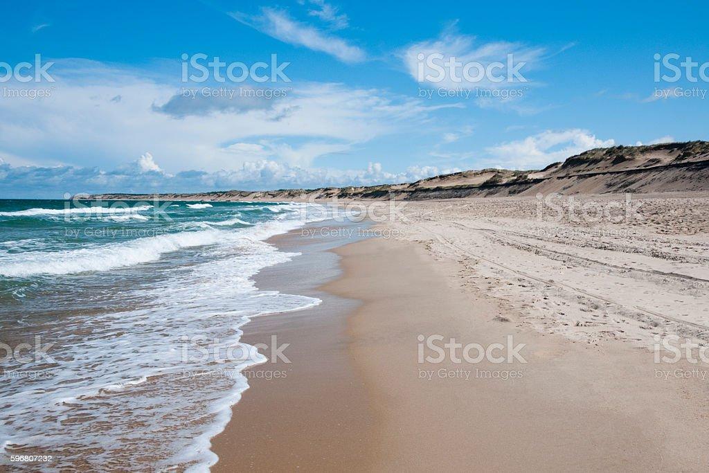 On Atlantic coastline in France stock photo