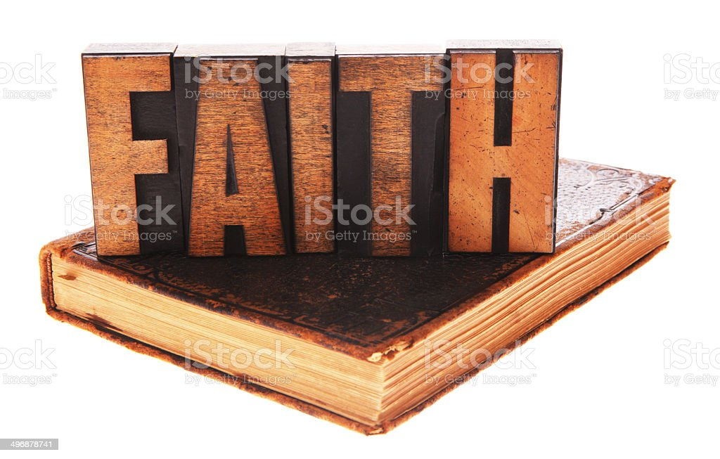 FAITH on Bible royalty-free stock photo