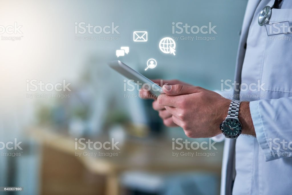 On call, online stock photo