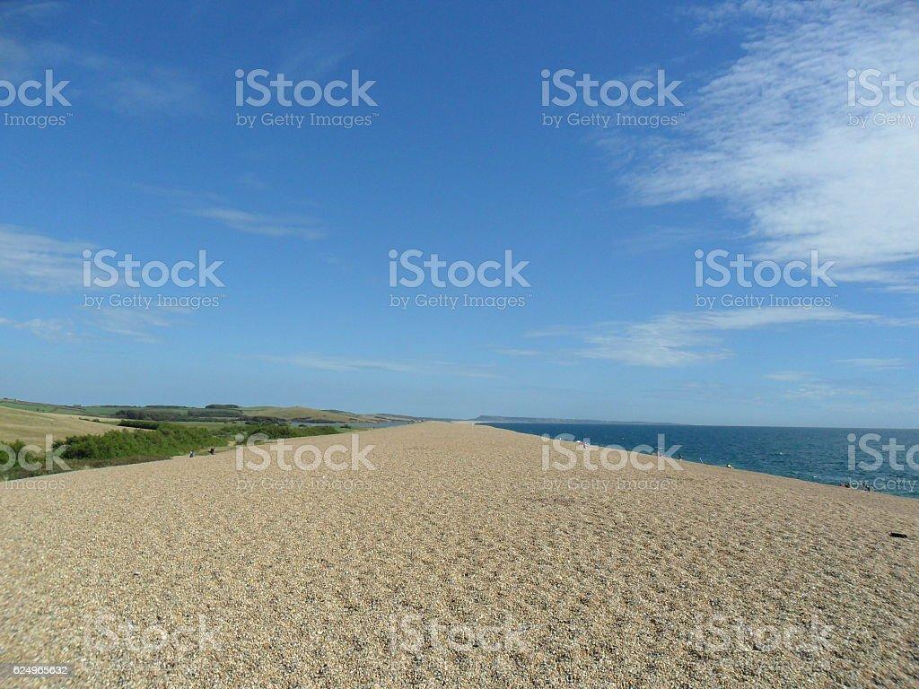 On Chesil Beach stock photo