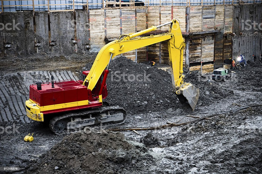 on construction site royalty-free stock photo