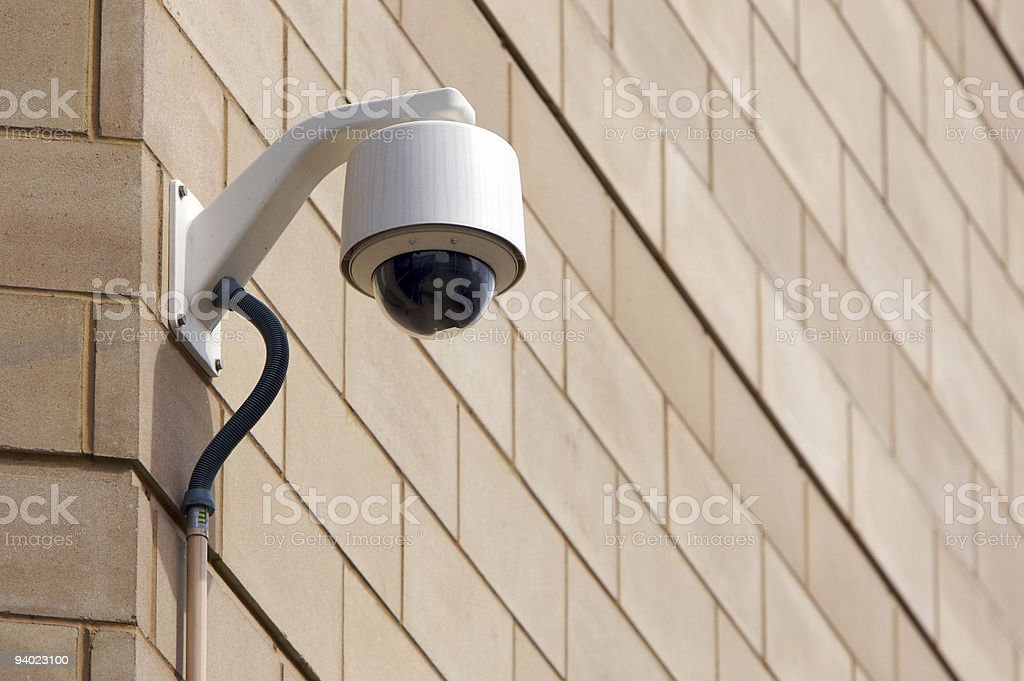 CCTV on corner of building royalty-free stock photo