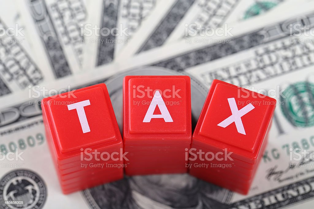 TAXES on currency royalty-free stock photo