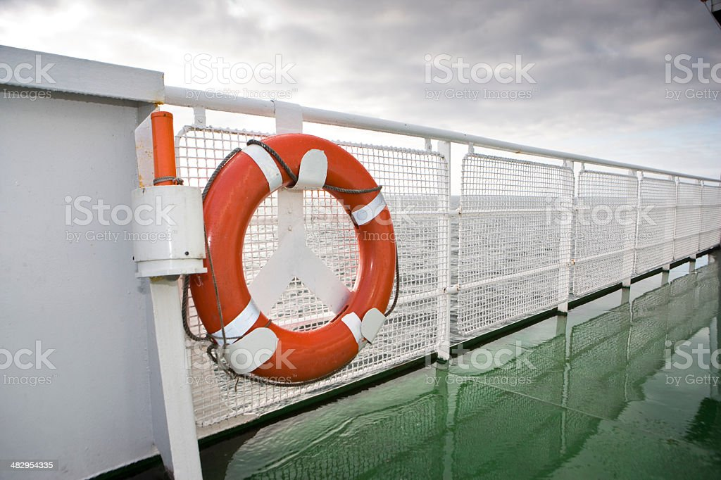 On deck of a ferry royalty-free stock photo