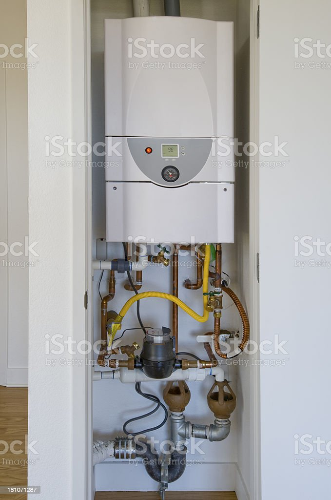 On Demand Hot Water Heater royalty-free stock photo