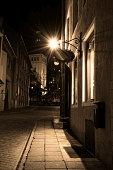 On deserted streets of Tallinn.