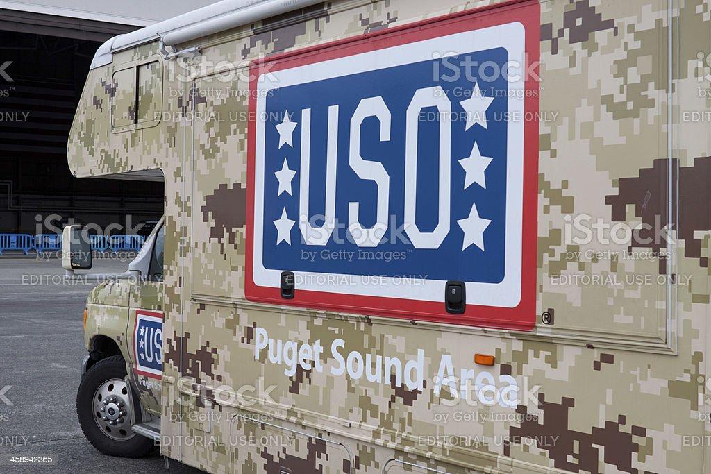 USO RV on Display royalty-free stock photo