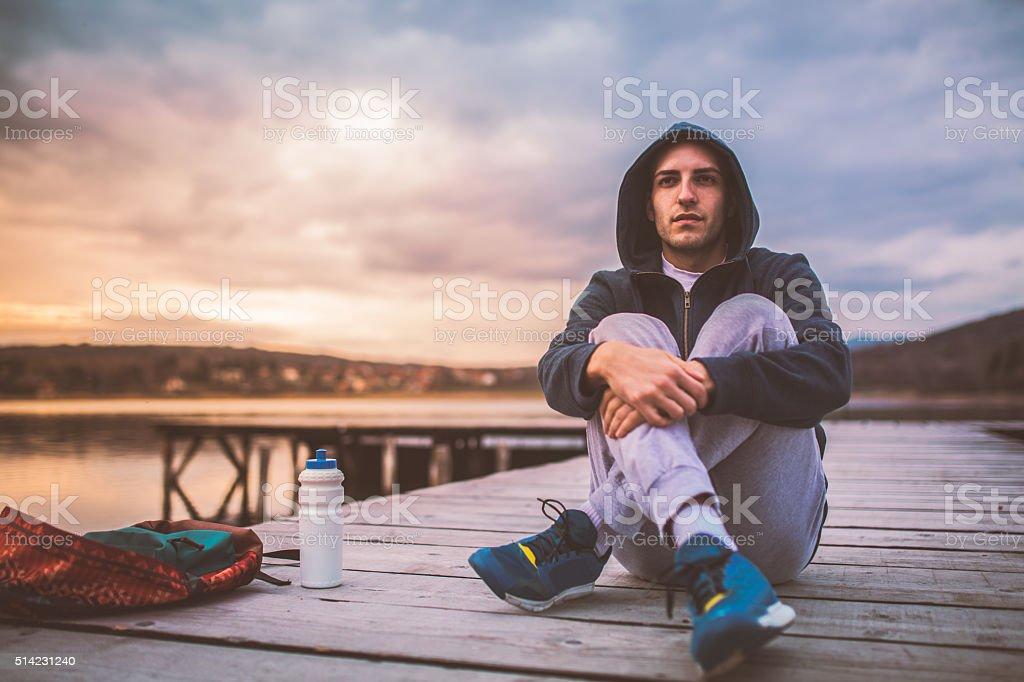 On dock stock photo