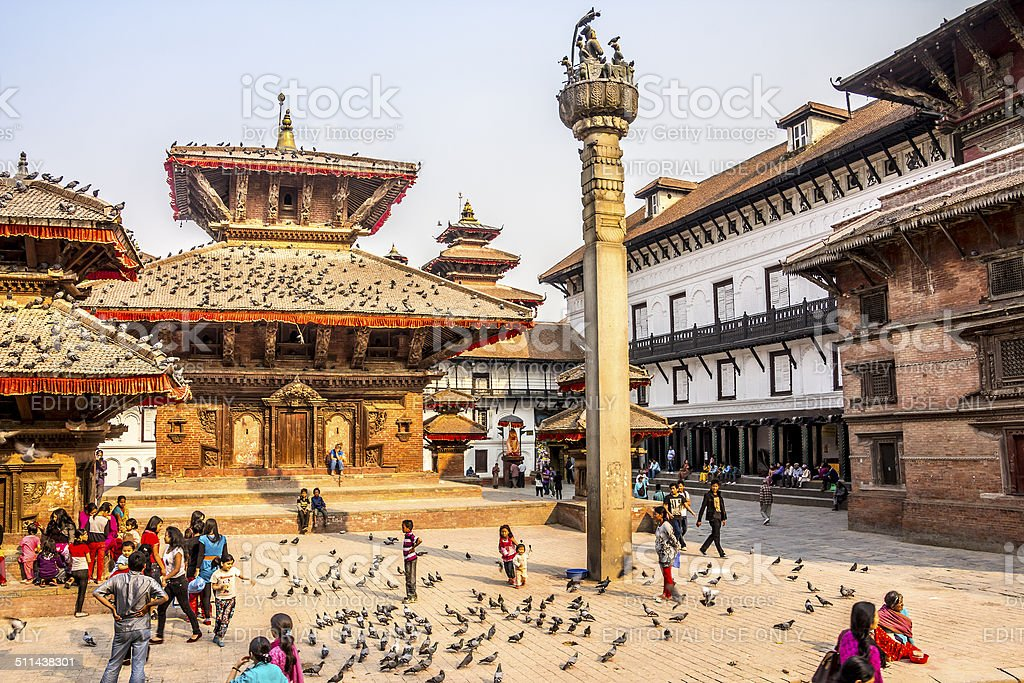 on durbar square stock photo
