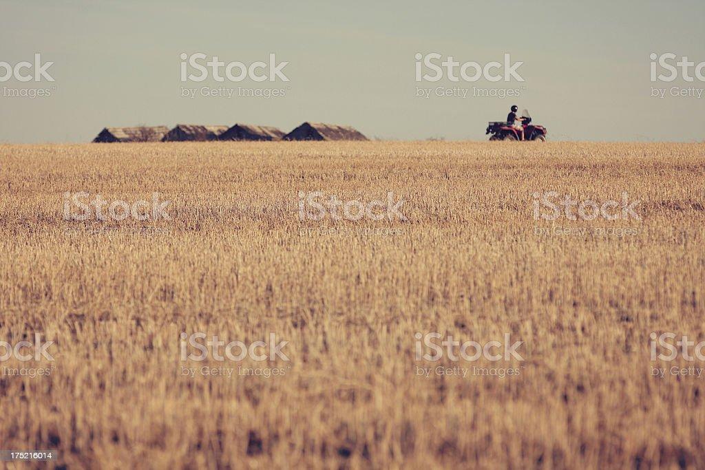 ATV on farm royalty-free stock photo