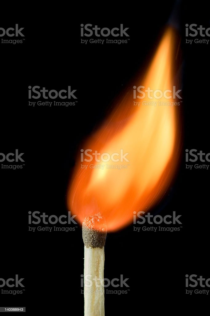 On fire royalty-free stock photo