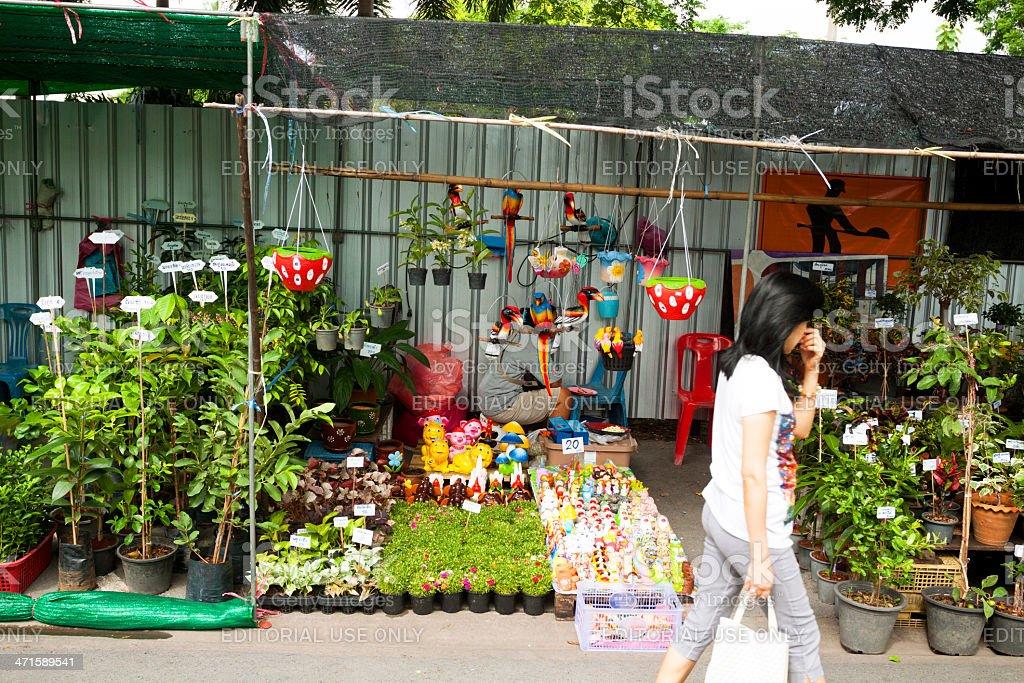 On flower market royalty-free stock photo