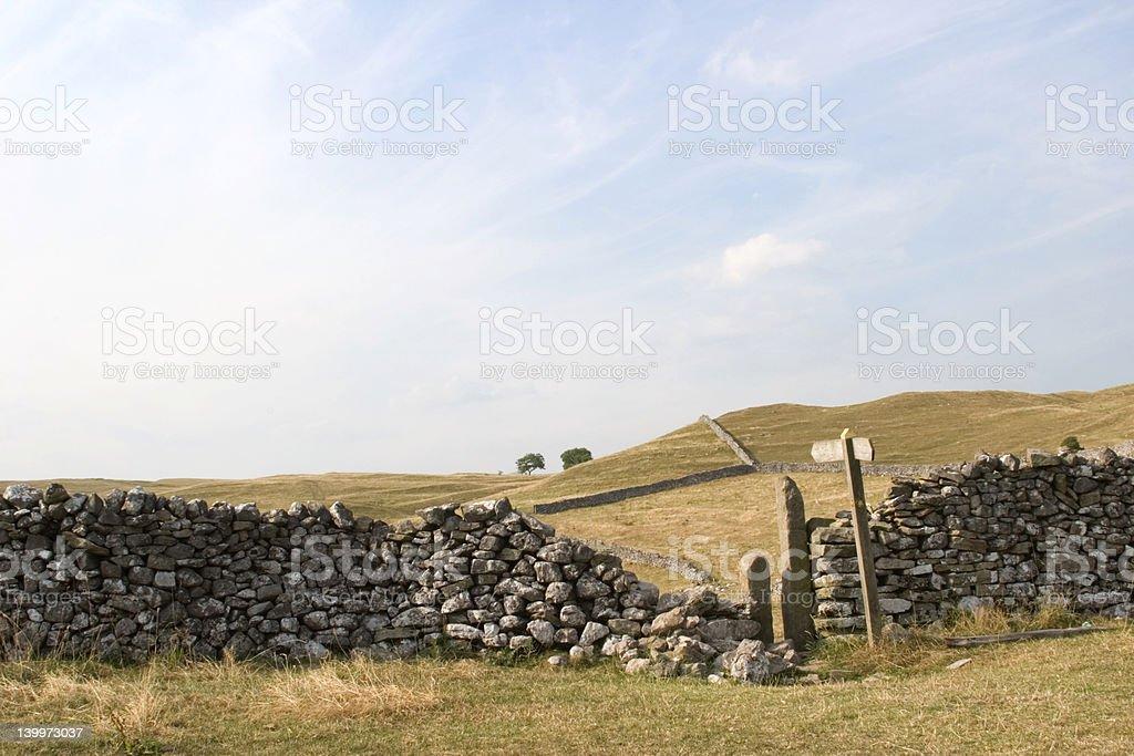 On Grassington Moor, Yorkshire Dales royalty-free stock photo