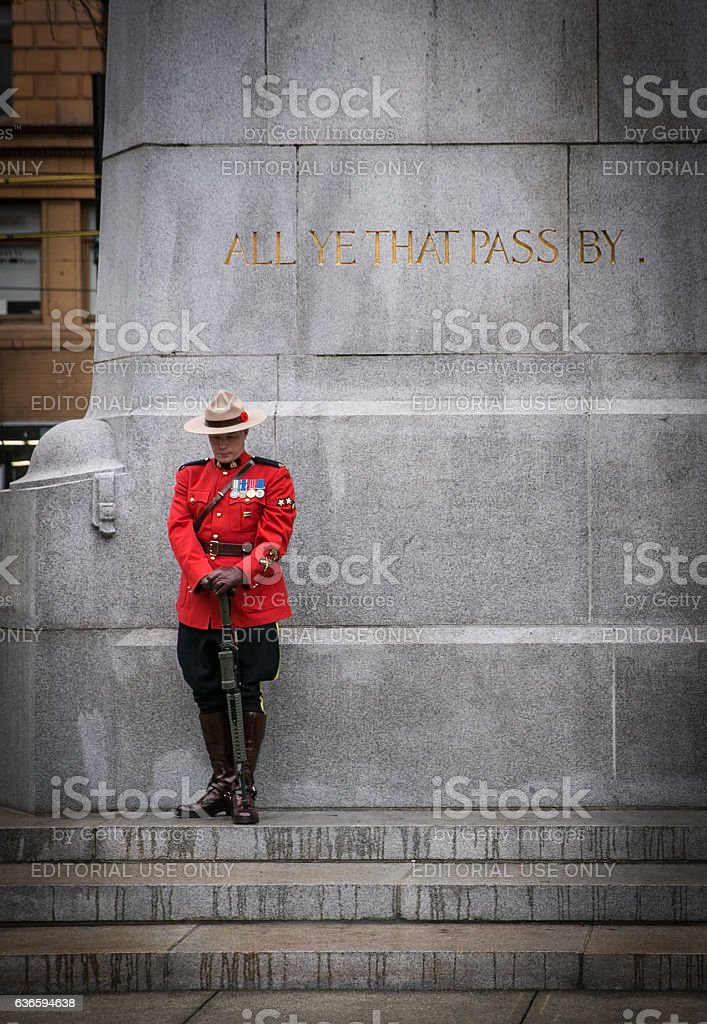 RCMP On Guard For Thee stock photo
