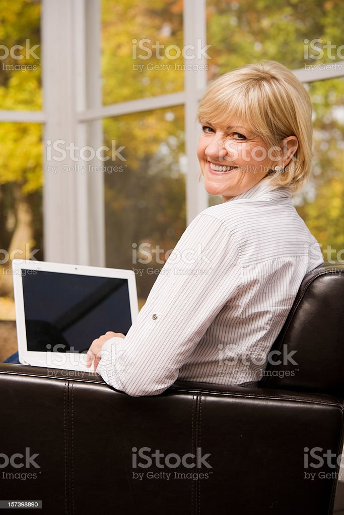 On Her LapTop royalty-free stock photo