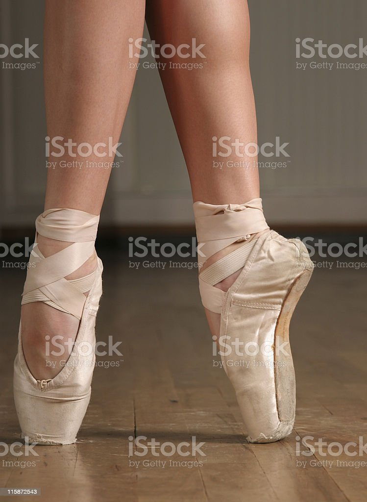 On her toes royalty-free stock photo