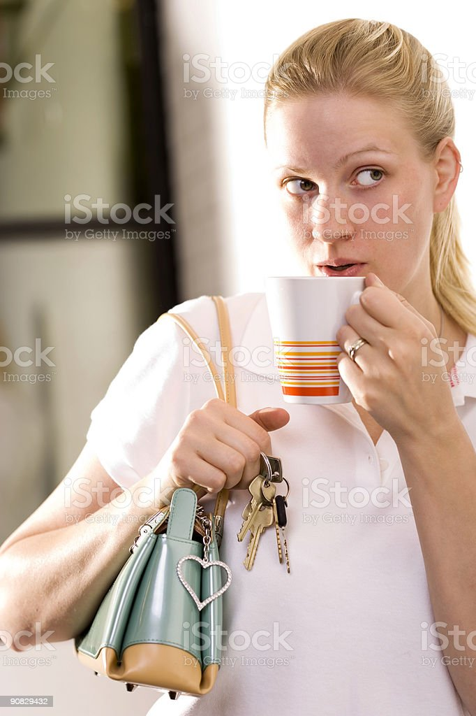 On Her Way Out royalty-free stock photo