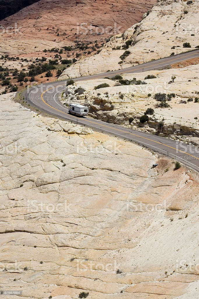 RV on Highway 12 royalty-free stock photo