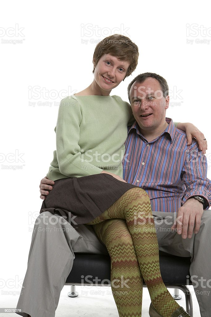 On his knee royalty-free stock photo