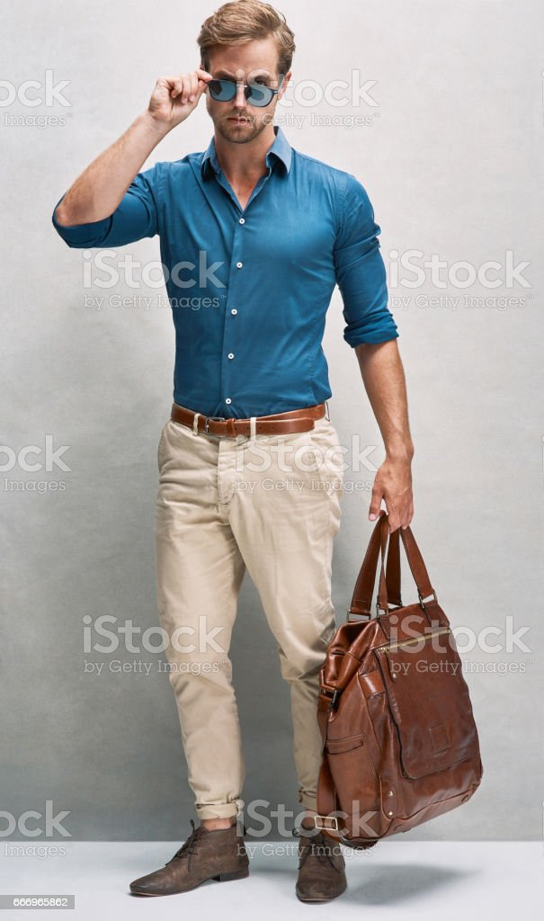 On his way in style stock photo