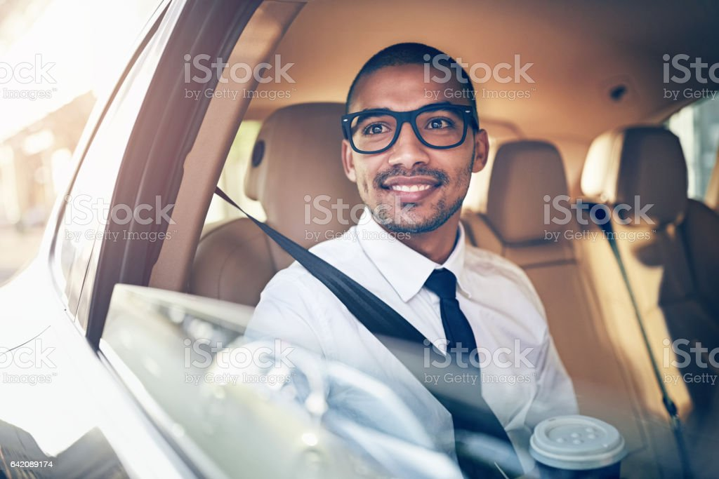 On his way to a big business opportunity stock photo
