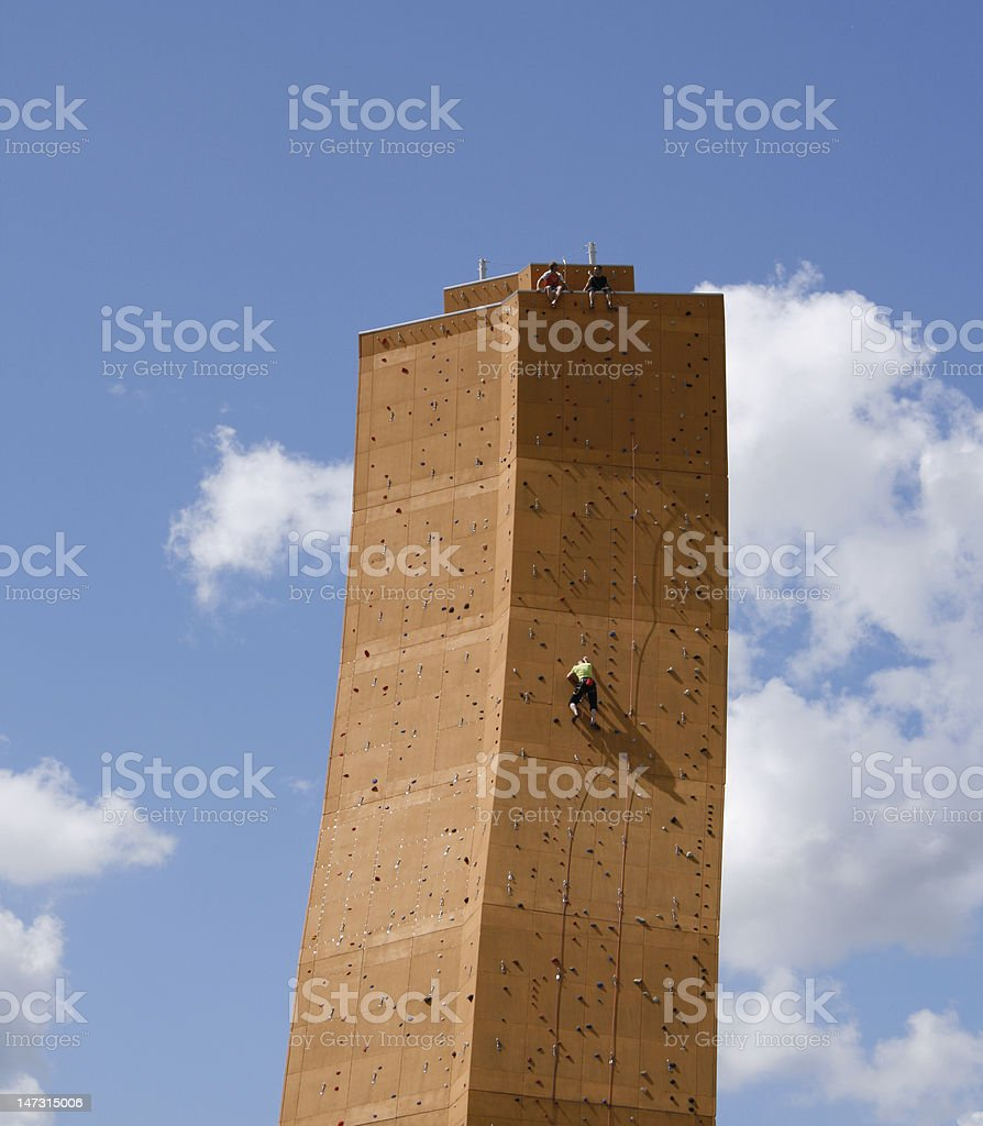 On his way to the top royalty-free stock photo