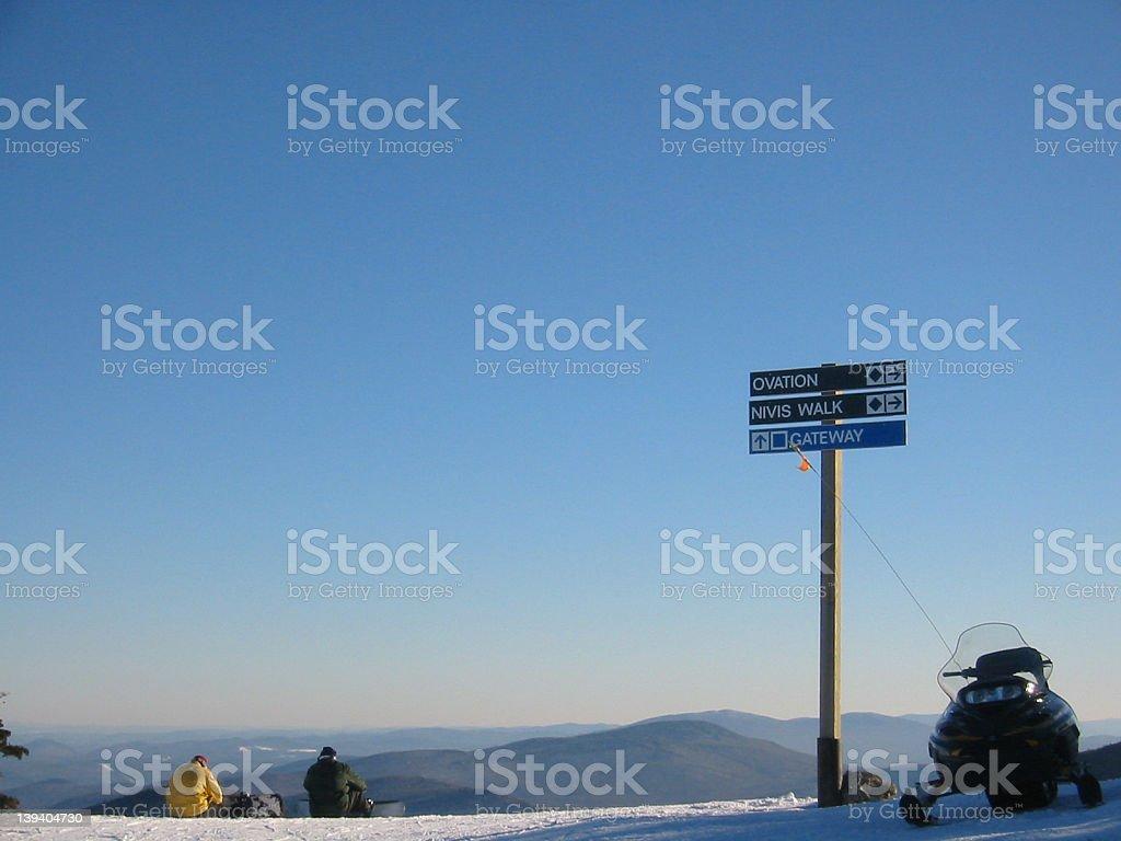 On Killington Peak royalty-free stock photo