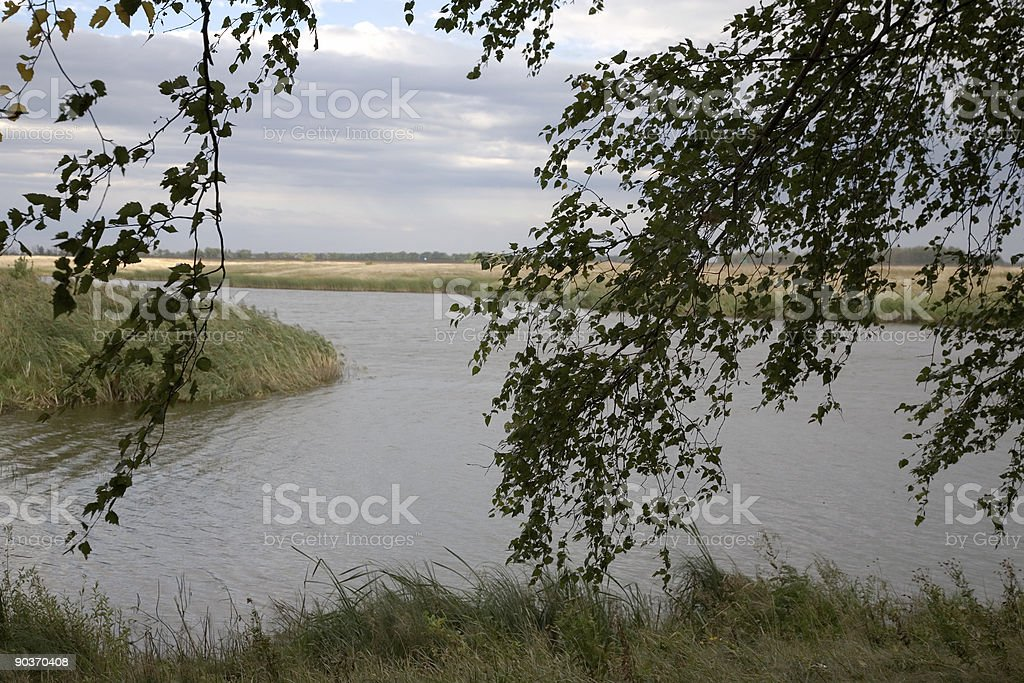 On lake stock photo