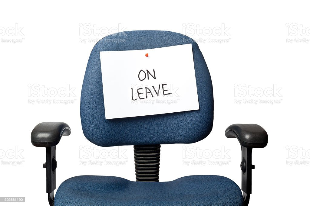 On leave stock photo