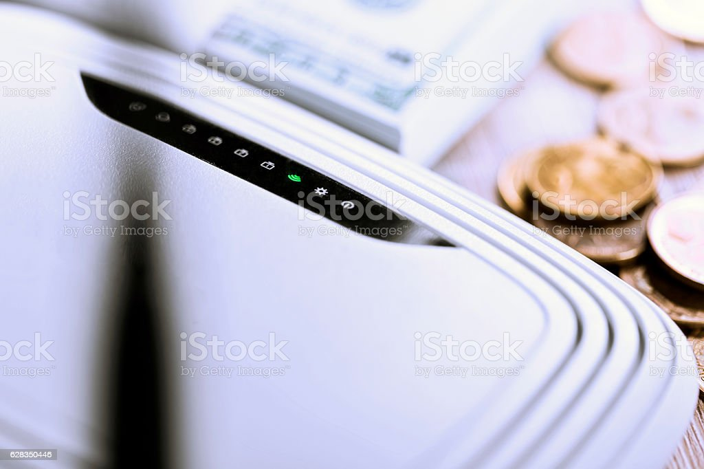 On line cost stock photo