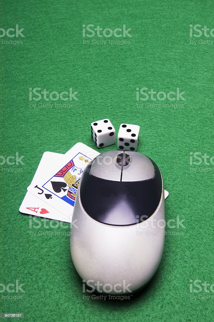 on line gambling stock photo