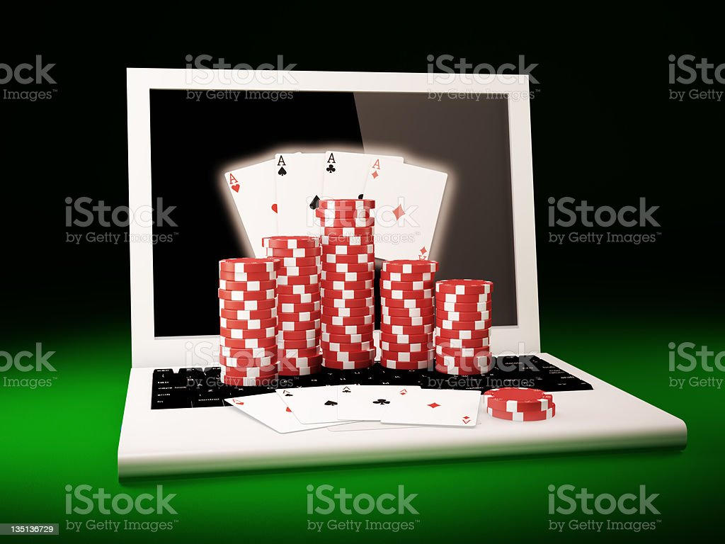 On line poker stock photo
