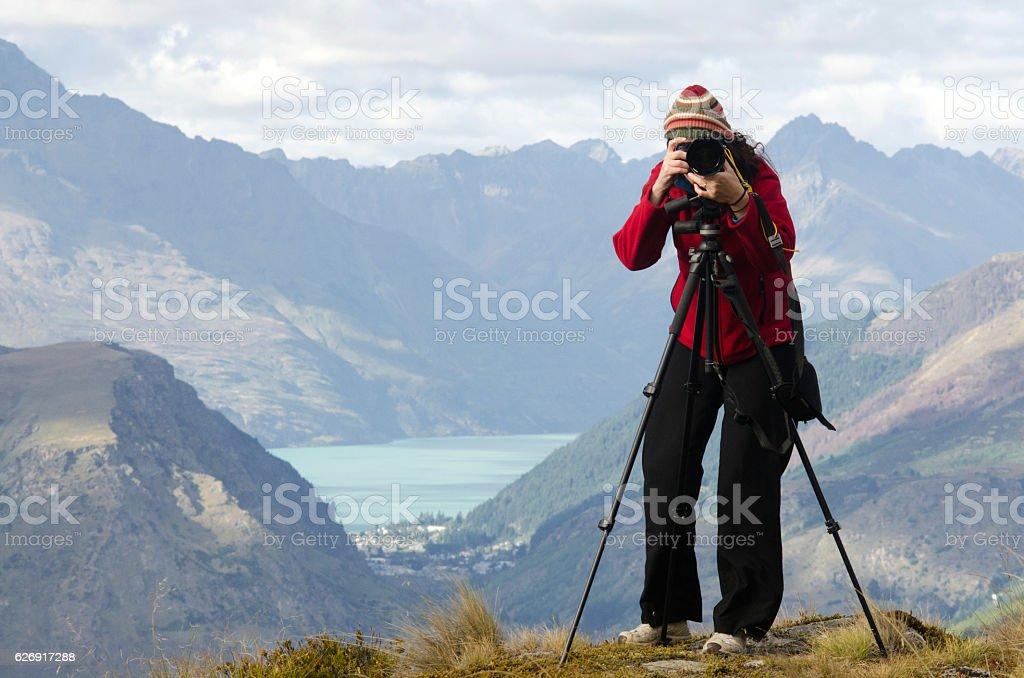 On Location Travel Photographer stock photo