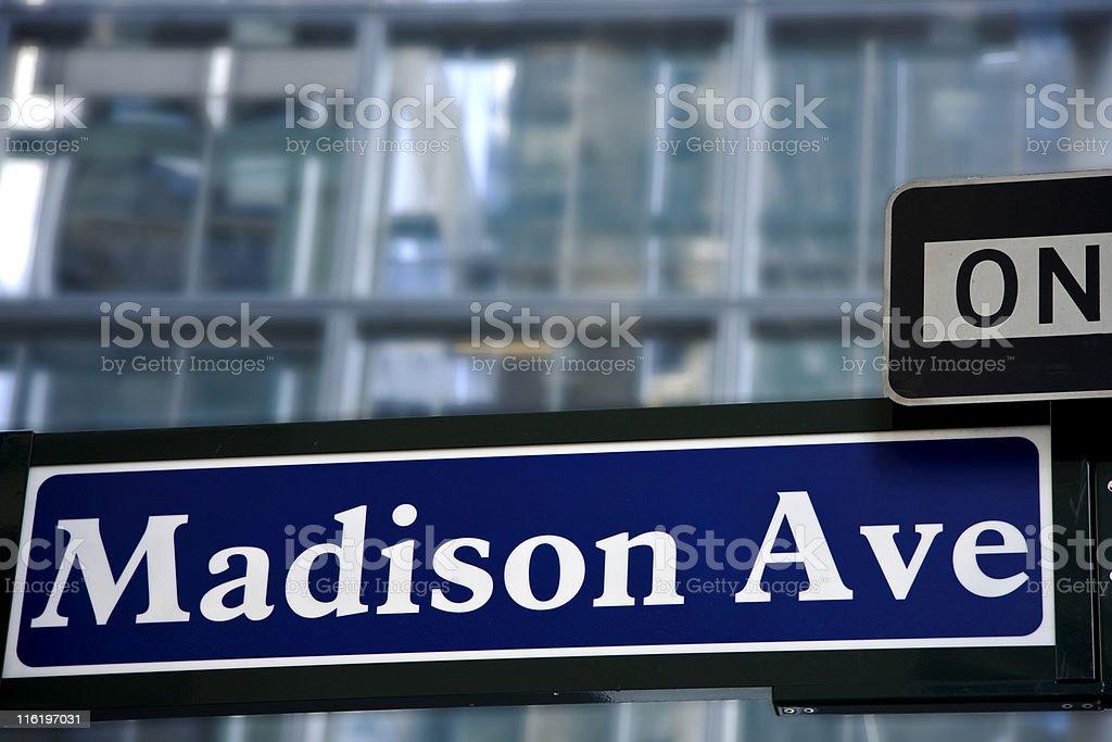 On Madison Avenue stock photo