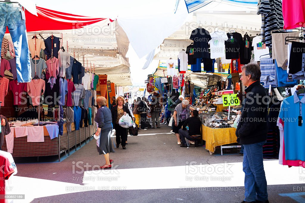 On market in Varese royalty-free stock photo