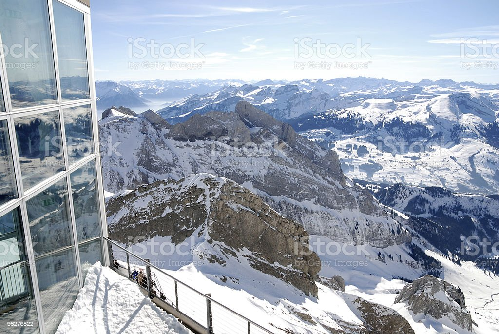 On Mount Säntis, Switzerland, 2502 meters over sea royalty-free stock photo